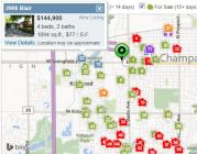 Champaign County Home Values map